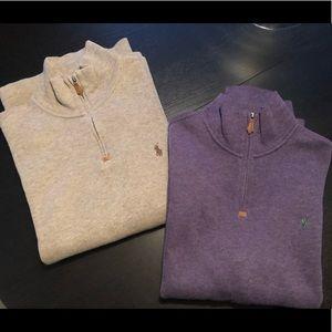 POLO Ralph Lauren half-zip sweaters